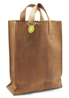 leather grocery bag by rosario