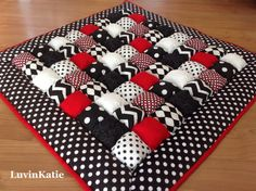Bubble Quilt Puff Quilt for Baby Floor Time Tummy by LuvinKatie