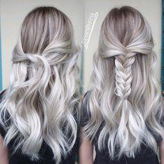 Platinum white blonde balayage