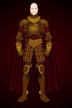 Heromachine 3, Character Concept, Concept Art, Gold Armor, Futuristic Armour, Cold Hearted, Cersei, Detailed Image, Ice