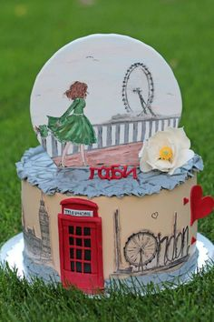 A dream named London. - Cake by Vesela Jekova 10th Birthday, Birthday Cakes, London Cake, Hand Painted Cakes, Cupcakes, Unique Cakes, Gorgeous Cakes, Polymer Clay Crafts, Cake Tutorial