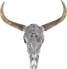Deko-Schädel in Silber mit orientalischer Verzierung Spirit Of Summer, Giraffe, Moose Art, Animals, Embellishments, Silver, Deko, Homes, Giraffes