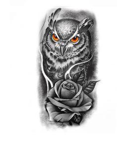 Owl Tattoo Drawings, Rose Drawing Tattoo, Rose Tattoos, Leg Tattoos, Body Art Tattoos, Forearm Tattoo Design, Floral Tattoo Design, Tiger Tattoo Sleeve, Sleeve Tattoos
