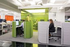 <p>Those who miss cubicles can work in (but not decorate) high-walled carrels.</p>