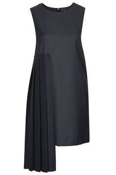 Hybrid Pleated Panel Shift Dress by Boutique