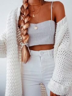 trendy outfits for summer ~ trendy outfits . trendy outfits for school . trendy outfits for summer . trendy outfits for women . Teen Fashion Outfits, Mode Outfits, Retro Outfits, Girly Outfits, Look Fashion, Outfits For Teens, Womens Fashion, Teenager Outfits, Fashion Trends