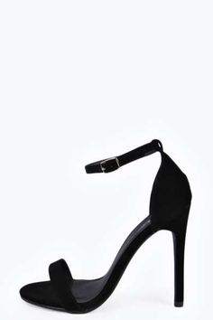 Maddie Suedette Skinny Barely There Heels at boohoo.com