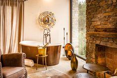 Chalet-Urlaub mit freistehender Kupfer-Badewanne Country Stil, Golden Hill, Clawfoot Bathtub, Design Hotel, Travel, Inspiration, Style, Chalets, Luxury