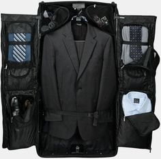 Great suitcase/ travel bag for dresses and suits.