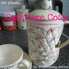 The Dressmaking Diaries: Cafetiere Cosy Tutorial