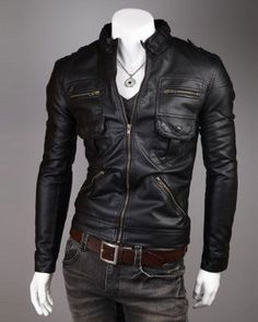hot sales mens leather jacket PU biker jacket Vintage Motorcycle jacket all sizes: Amazon.co.uk: Clothing