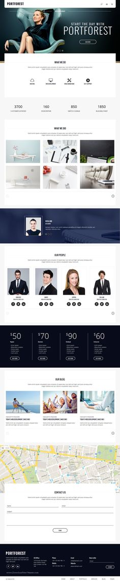 PortForest is a creative and modern #portfolio Bootstrap HTML #template with different variations. It has 2 versions: Multiple Pages and Single Page.