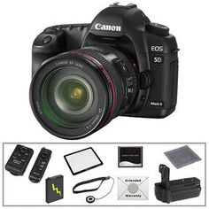 I am far from a professional photographer - so my Digital Rebel XT is great for my needs right now.  But who can resist the ability to shoot cinema quality HD with your camera! The Canon EOS 5D Mark II  is definitely on my dream board.