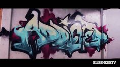 Aweing stop motion Graffiti stop-motion: Bliss N Eso - Addicted
