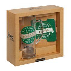 Santé, bonheur et bière à toute heure 1 chope et 4 sous-verres Accessoire fun et indispensable   #verres #biere #saintpatrick #saintpatricksday #party #soiree #glasses #alcool #alcohol #fun #design