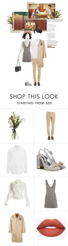 """«PHOEBE - YIN & YANG [M/V] OUTFIT 1/2»"" by cw-entertainment ❤ liked on Polyvore featuring Wyld Home, Brooks Brothers, Somi, Joseph, Dolce&Gabbana, Vivienne Westwood, Topshop and Burberry"
