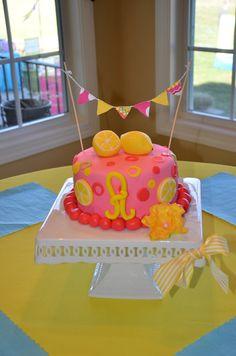 "Photo 31 of Pink Lemonade / Birthday ""Addie turns 5 Pink Lemonade "" Bday Girl, Baby 1st Birthday, 1st Birthday Parties, Birthday Ideas, Pretty Cakes, Cute Cakes, Awesome Cakes, Limonade Rose, Pink Lemonade Cake"