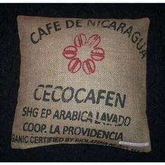 Vom Kaffeesack zum #Upcycling Kissenbezug | From coffee bag to #upcycled cushion cover