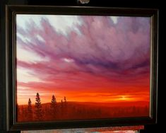 CLICK HERE FOR THE DVD VERSION  Have you ever wondered how to create beautiful light in your sunset paintings?  Or how to mix orange and blue without making m