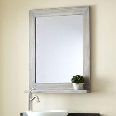 "24"" Liani Teak Vanity Mirror - Gray Wash"