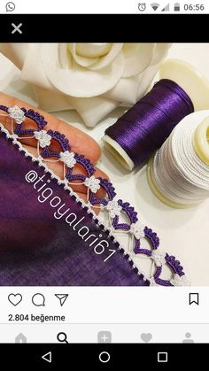 This Pin was discovered by HUZ Crochet Edging Patterns, Crochet Lace Edging, Crochet Borders, Basic Crochet Stitches, Hand Embroidery Patterns, Knitting Designs, Crochet Designs, Knitting Patterns, Saree Tassels Designs