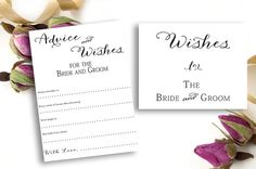 Wedding Well Wishes Advice Cards Free Wishes Sign by weddingfusion, $12.00