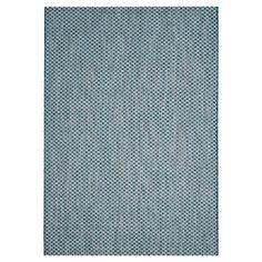 """Tabatha Indoor/Outdoor Rug - Blue / Light Grey - 6'-7"""" X 9'-6"""" - Safavieh"""