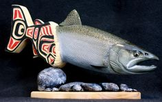 Alaska Fly Fishing Art, Trout Carvings and Sculptures