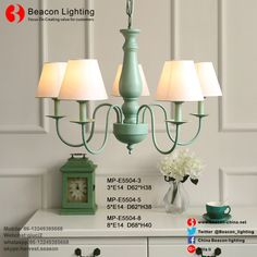 Factory Price Wholesale Kids Chandeliers Pendant Lights Lamp with Fabric Shade for Princess Children`s room