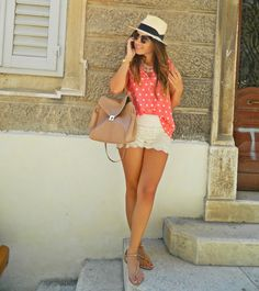 Crochet shorts outfit
