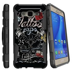 Galaxy On5 ARMOR RELOADED, Heavy Duty Kickstand Holster Clip - Tattoo Expo
