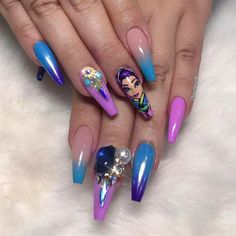 Stiletto Nail Art, Unicorn Nails, The Claw, Fall Nail Art, Holographic Nails, Nail Art Galleries, Hand Painting Art, Manicure And Pedicure, Nails Inspiration