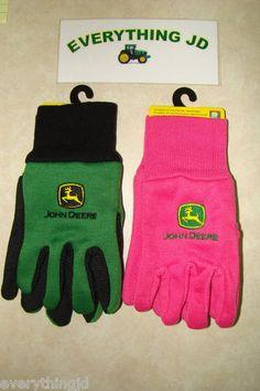 Youth John Deere Lightweight Work Gloves Pink or Green LP42386 88 | eBay  $6,99 incl shipping