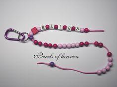 Rechenkette, Zählkette für Mädchen Schulanfang von Pearls of heaven auf DaWanda.com
