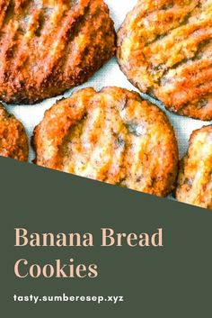 I was really surprised this recipe hadn't received any comments yet when I decided to make it — but I do see now it's very new — I give. Real Food Recipes, Great Recipes, Cookie Recipes, Favorite Recipes, Healthy Recipes, Banana Bread Cookies, Banana Recipes, Delicious Desserts, Food To Make