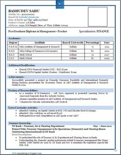 resume format doc file download