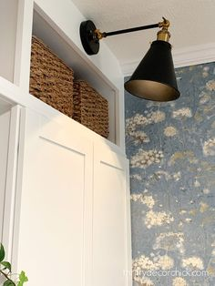 How to add a light fixture anywhere (without electricity!) Puck Lights, Wall Lights, Thrifty Decor Chick, Built Ins, Decorating Your Home, Light Fixtures, Sconces, Bookcase, Household