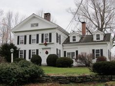 Greek Revival Farmhouse farm house transformed into a greek revival traditional exterior