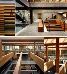 Ad firm Wieden + Kennedy turned an old warehouse in Portland, Oregon into its new world headquarters, holding several hundred employees. Portland architecture firm Allied Works gave the building a new concrete interior and new stories, preserving some of the original timber.