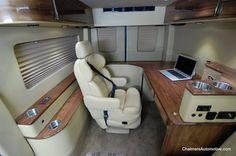 Custom Sprinter Mobile Office  www.chalmersautomotive.com  #ChalmersAutomotive  #LuxurySprinter #CustomSprinter #MobileOffice #MercedesSprinter