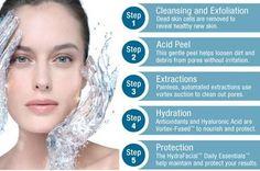 Facial Life - Hydrafacial Steps