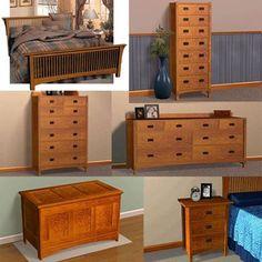 Mission Style Bedroom Furniture Suite Plans   Furniture Plans