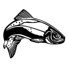 Trout Fish Die-Cut Decal Car Window Wall Bumper Phone Laptop