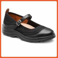 91f89105c33f Dr. Comfort Flute Women s Therapeutic Diabetic Extra Depth Shoe   Black Lycra 12.0 Medium