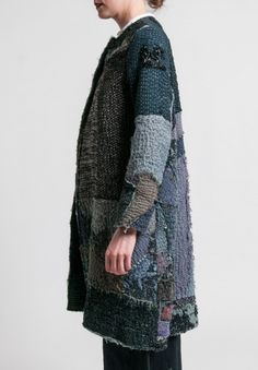 By Walid Gigi Long Coat in Pewter
