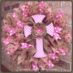 Super fun deco mesh and burlap wreath with by Sparklesamswreaths, $65.00
