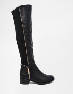 Immagine 2 di Truffle Collection - Stivali piatti al ginocchio con zip