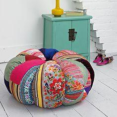Patchwork footstool