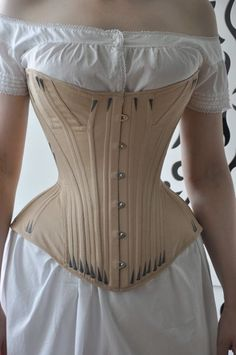 Before the Automobile: Gusseted 1870's corset - This one. Looks complicated, but if fitted right, it should be comfortable even for someone without so many curves. (I hope)