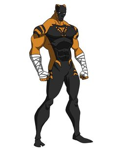 Midnight Tiger for ~RayHeight by DivineComics Super Hero Outfits, Super Hero Costumes, Superhero Characters, Fantasy Characters, Comic Character, Character Concept, He Man Desenho, Comic Style, Comic Art